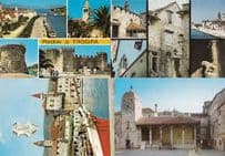 Trogir Fishing Boat Cathedral Ancient Buildings 4x Rumamia Postcard s