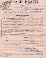 Walter Niblo Live Plymouth Hand Signed Performance Contract