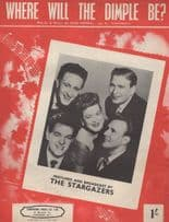 Where Will The Dimple Be The Stargazers 1950s Sheet Music