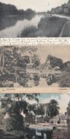Whitchurch Berkshire 3x River Views Old Antique Postcard s