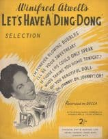 Winifred Atwell Lets Have  A Ding Dong Sheet Music Album & MORE