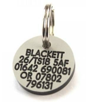 21mm Round Plastic Dog Pet Tag