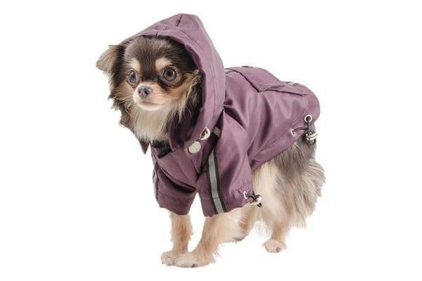 Ancol Small Bite Waterproof Dog Mac in Damson