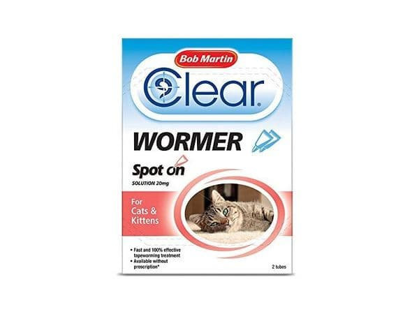 Bob Martin Clear Spot on Wormer for Cats