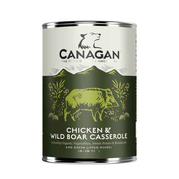 Canagan Chicken & Wild Boar Wet Dog Food 400g Can