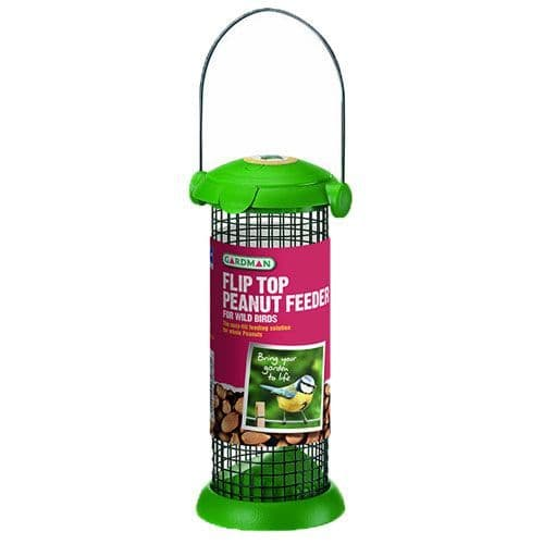 Flip Top Peanut Feeder for Wild Birds