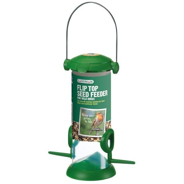 Flip Top Seed Feeder for Wild Birds