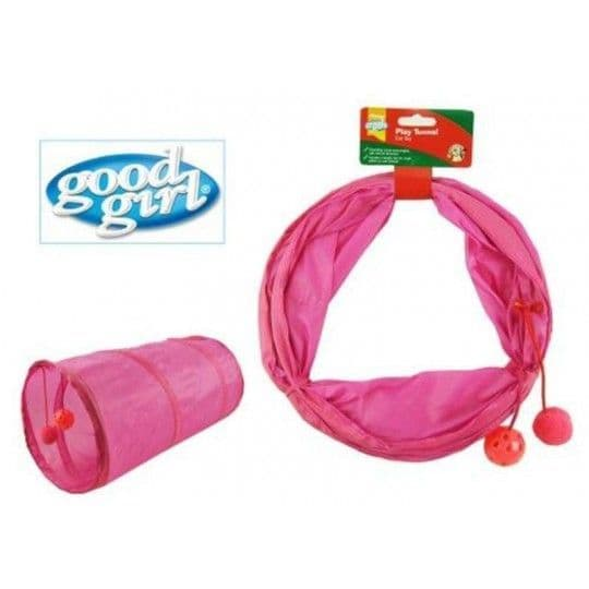 Good Girl Cat Play Tunnel Pink