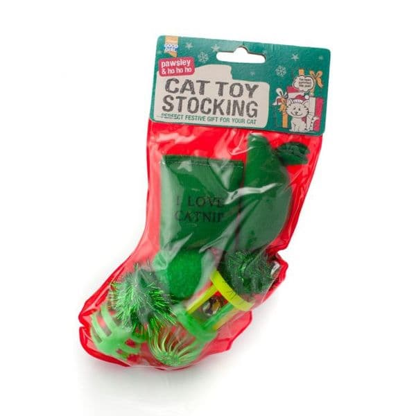 Good Girl Christmas Cat Toy Stocking