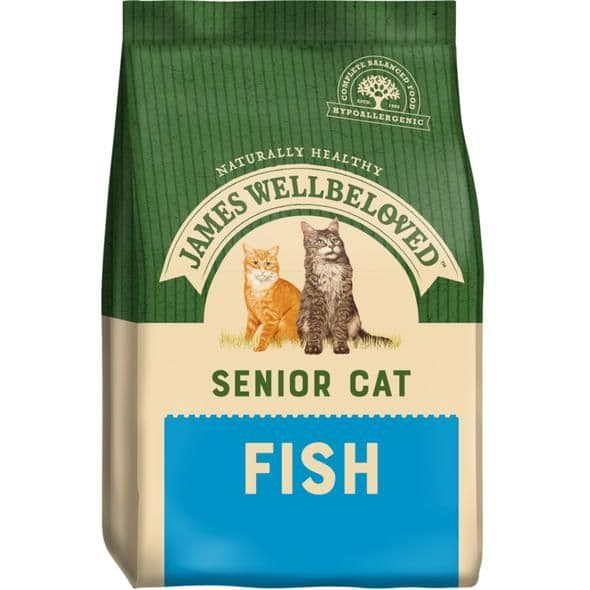 James Wellbeloved Senior Cat Fish Dry Food