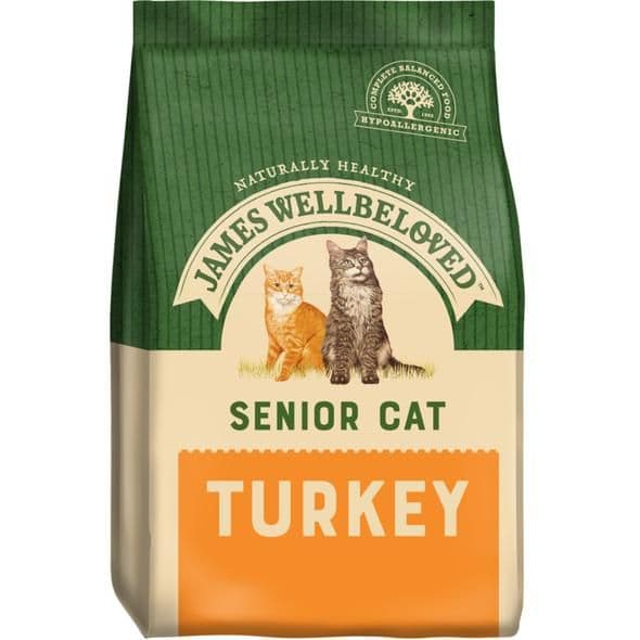 James Wellbeloved Senior Cat Turkey Dry Food