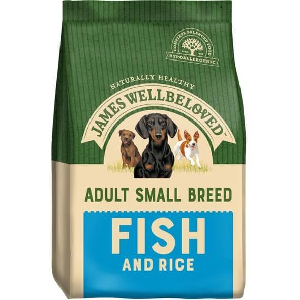 James Wellbeloved Small Breed Adult Fish & Rice Dry Dog Food