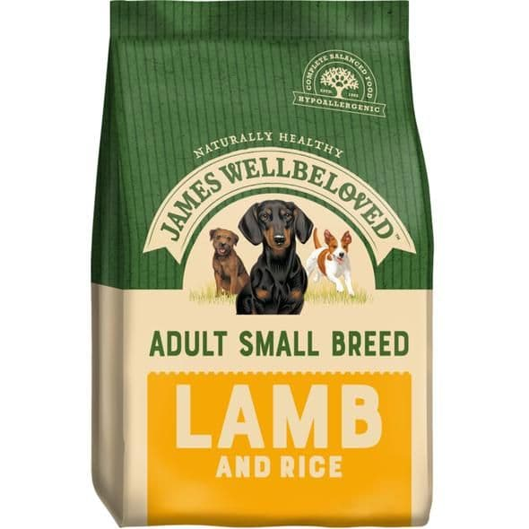 James Wellbeloved Small Breed Adult Lamb & Rice Dry Dog Food