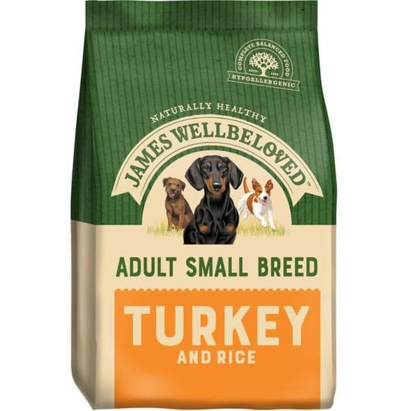 James Wellbeloved Small Breed Adult Turkey & Rice Dry Dog Food