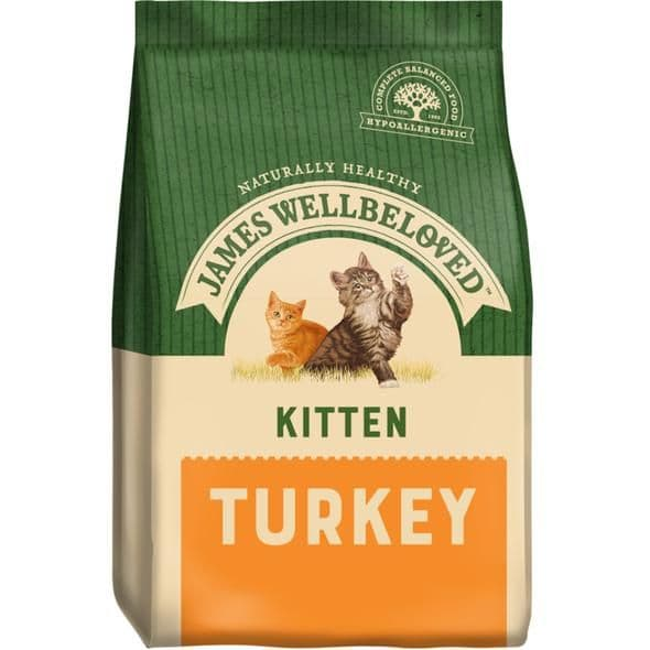 James Wellbeloved Turkey Dry Kitten Food