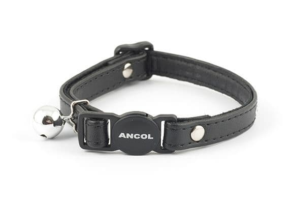 Jewel Safety Cat Collar Black