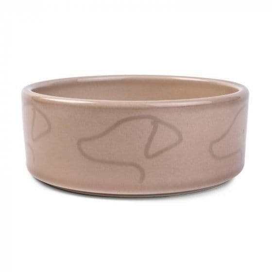 Latte Ceramic Dog Bowl by Zoon