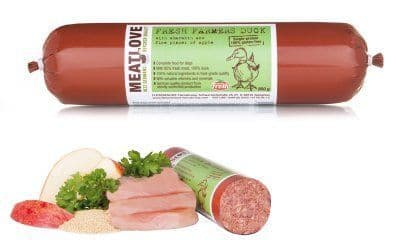 Meatlove Fresh Duck Single Protein Food Chub Rolls for Dogs
