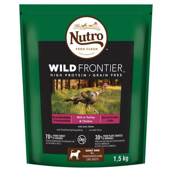 Nutro Wild Frontier Adult Turkey & Chicken 1.5kg Dry Dog Food