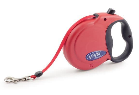 Red Viva 5m Retractable Lead