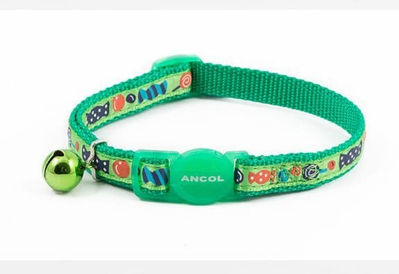 Sweeties Safety Cat Collar Green