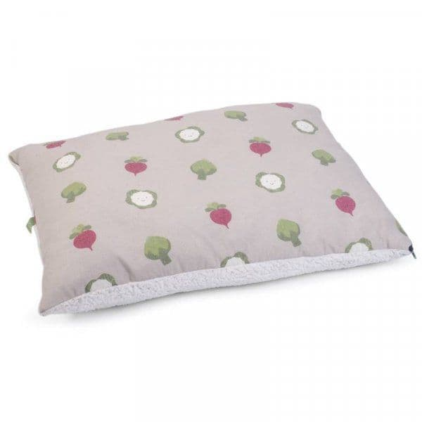 Veggie Patch Pillow Mattress Dog Bed