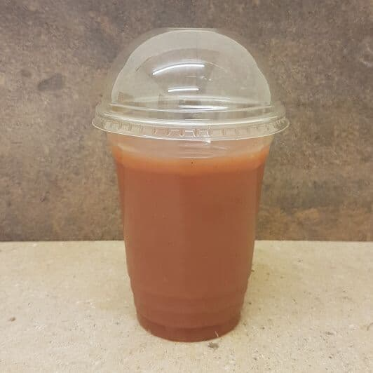 16oz Clear Plastic Cups + Dome Lids 200 Pack
