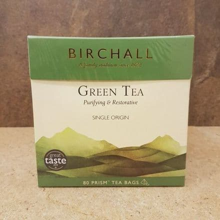 Birchall Green Tea Prism Tea Bags 80 (Big Box)