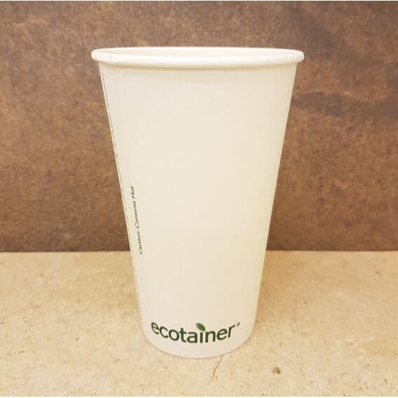 Compostable 16oz Ecotainer Paper Cups x 500