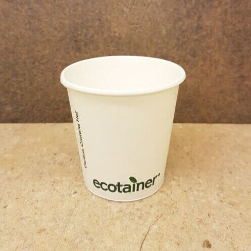 Compostable 4oz Ecotainer Paper Cups x 200