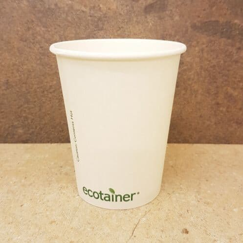 Compostable 8oz Ecotainer Paper Cups x 1000