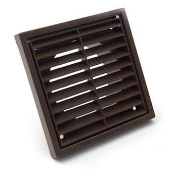 Fixed Four Inch 100mm Spigot Brown Extractor Fan Grille