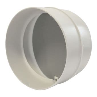 Ventilation In Line Backdraught Shutter for 4 Inch, 100mm Ducting