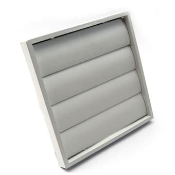 6 Inch White Back Draught Gravity Grille 150mm