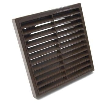 Fixed Six Inch 150mm Spigot Brown Extractor Fan Grille