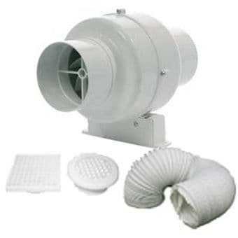 Manrose SCF200TN Extractor Fan with Timer Duct and Grille