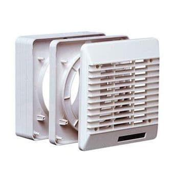 VentAxia 254101 White Window Kit for 4 Inch Extractor Fans