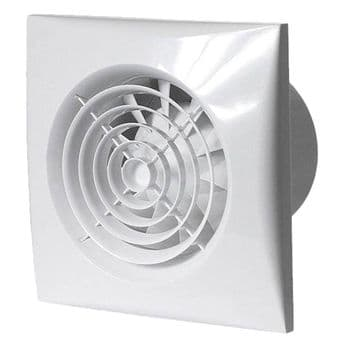 Kitchen Fan Humidity, Timer, Pull cord auto/manual control Envirovent SIL150HTP