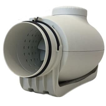 Envirovent SILMV350/125T Sound proofed 5 inch inline fan with Timer