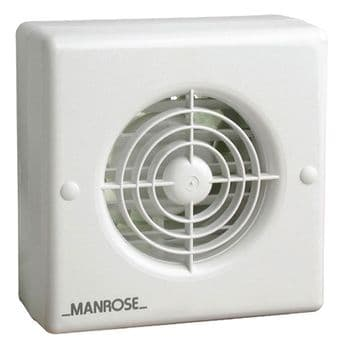 Manrose WF100H 4 Inch Window Extractor Fan with Humidistat