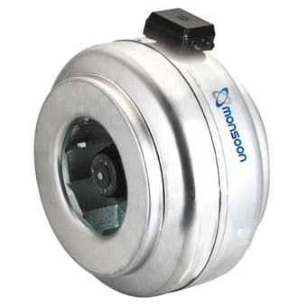 Monsoon ILF100 100mm Metal Cased Commercial Inline Centrifugal Fan