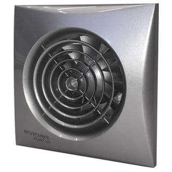 Chrome Extractor Fan with Timer Envirovent SIL100ST. 100mm axial impeller