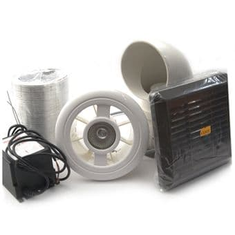 Vent Axia 453413 Luminair Shower Extractor Fan Kit & Light & Timer