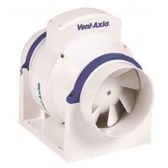 Vent Axia ACM100T Inline Mixed Flow Extractor Fan Timer 17104020