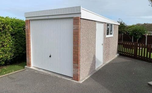 Concrete Garages - Single - Sloping Roof