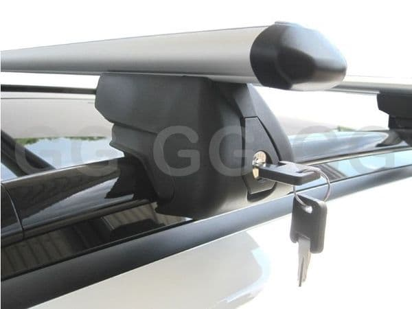 Aluminium Aero Roof Rack Rail Bars Lockable Jaguar X Type Estate 2003-2009