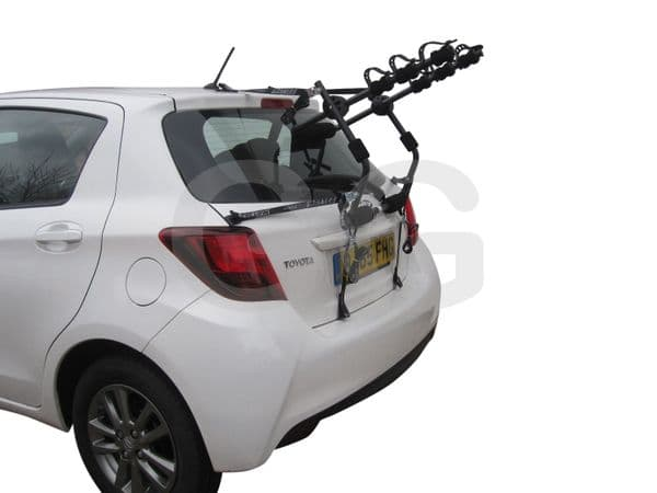 Car 3 Bike Cycle Carrier Rack Rear Door Boot Mounted- Saloon Hatchback Estate MPV