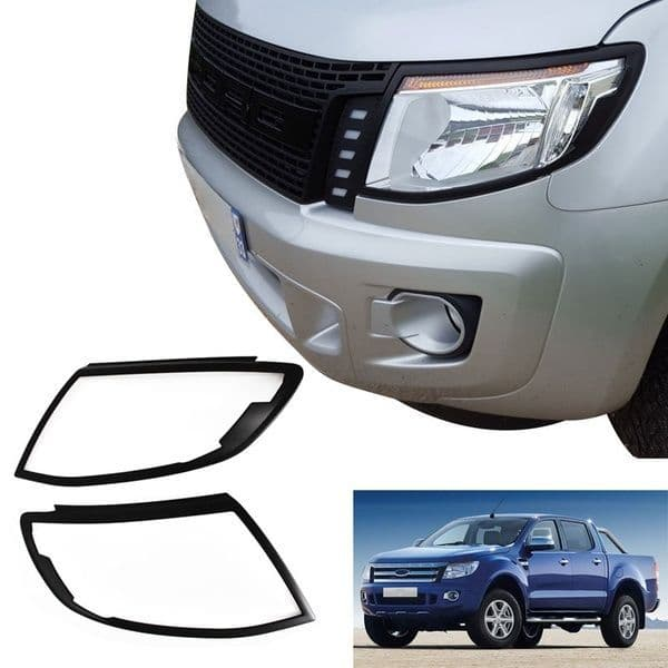 Front HeadLight Cover Surround Guards | Ford Ranger T6 2011-2016