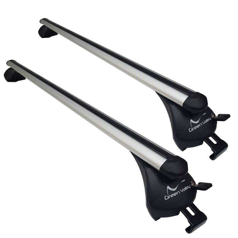 Green Valley Aerodynamic Roof Rack Bars for vehicle with Flush Roof Rails