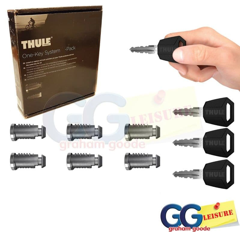 Thule 450600 One Key System - Set of 6 Locks Includes Master Key